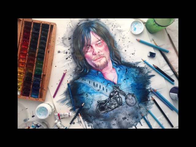 Speed Painting: Norman Reedus The Walking Dead
