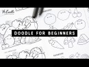 Doodle for Beginners Ep2 | Kawaii Fruits Vegetables | Draw with Me Step-by-Step