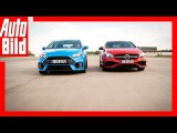 Drag Race Mercedes-AMG A 45 vs Ford Focus RS Review  Sound  14 Meile Rennen