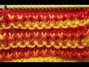 Красивый двухцветный узор спицами Мастер класс BEAUTIFUL Two Colour Knitting Pattern