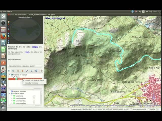 Visualizar datos GPS en el ordenador mediante Qlandkarte GT