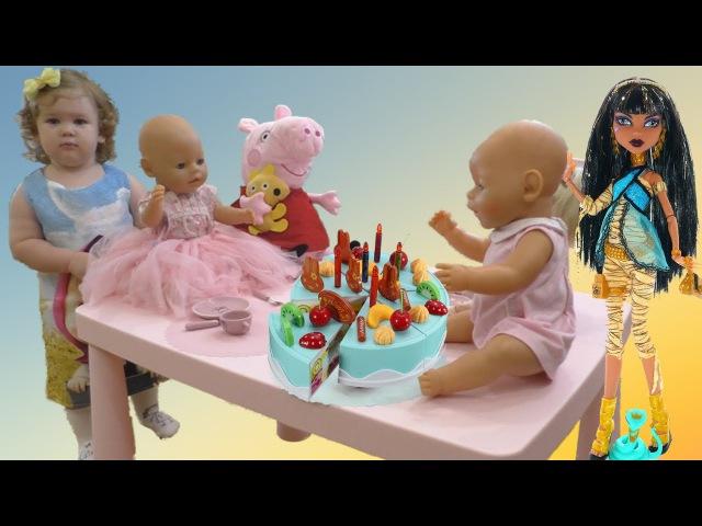 В гостях у Лизы СВИНКА ПЕППА , Monster High, Baby Born
