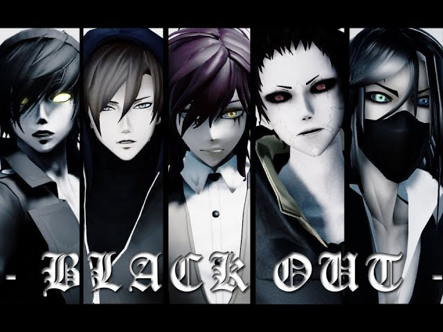 【MMD/Creepypasta】❤ BLACK OUT ❤ Toby/Nathan/Jason/Puppeteer/Hoody