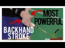 BACKHAND STROKE The Most Powerful Accurate Backhand Stroke Ever Better Badminton