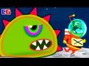Приключение ИНОПЛАНЕТНОЙ СЛИЗИ на ЛУНЕ Мультяшная игра Tales from Space Mutant Blobs Attack