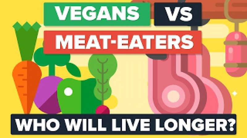 VEGANS vs MEAT EATERS - Who Will Live Longer Food Diet Comparison
