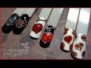 Сердечки Экспресс дизайн ногтей гель лаком