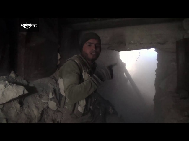 Прямая конфронтация между моджахедами и танками Асада на фронте Хаваш-аль-Дахахра в Аль-Гута Аль-Шаркия.