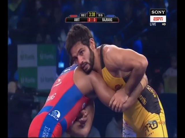 PWL 3 Day 11:Amit Dhankar VS Bajrang Punia at Pro Wrestling League 2018 | Full Match