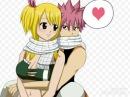 Люси и Нацу из аниме хвост фей
