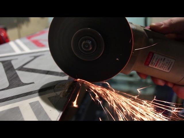 Сложный ремонт скользящей поверхности сноуборда