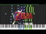 Gerudo Valley - The Legend of Zelda Ocarina of Time Piano Tutorial (Synthesia)  AquareCover