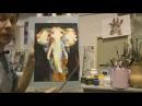 Интерьерная картина акрилом на холсте ЖИРАФ Абстрактная картина