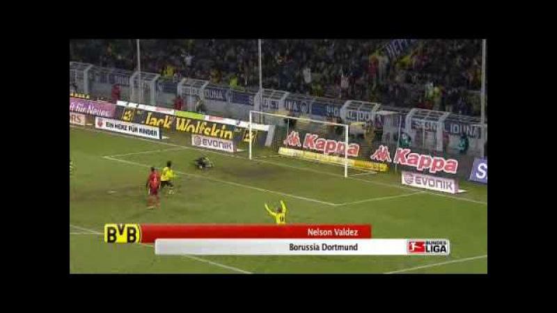Borussia Dortmund - Tor von Nelson Valdez zum 1:0 gegen Hamburg