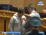 15-летнему Вячеславу Шукшину,спасшему двух девочек из огня, вручили медаль МЧС