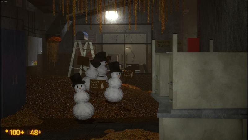 Black Mesa в стиме.Аддон OP4 Penguin Weapon Snark Reskin1