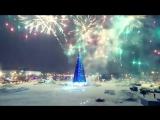Огни на главной ёлке Перми