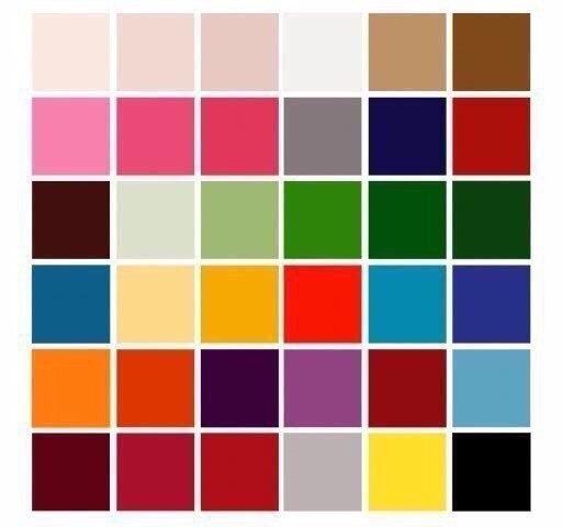 Сочетаем цвета правильно. 30 цветов от белого до чёрного.