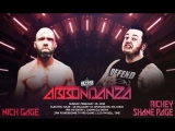 Nick Gage (c) vs. Rickey Shane Page GCW World Title 20.000 Thumbtacks Death Match