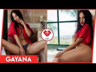 The Beautiful Gayana Bagdasaryan in the Bathroom! by Tempt App