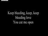 The Baseballs bleeding love (lyrics)