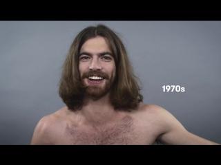 100 лет мужских причесок за минуту
