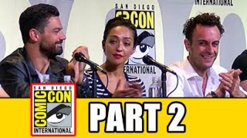 PREACHER Comic Con Panel Part 2 Dominic Cooper Ruth Negga Joseph Gilgun Seth Rogen