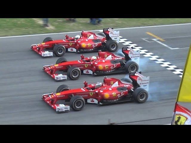 Finali Mondiali Ferrari 2017 - F1 Burnouts, FXX K Racecars Parade at Mugello Circuit!