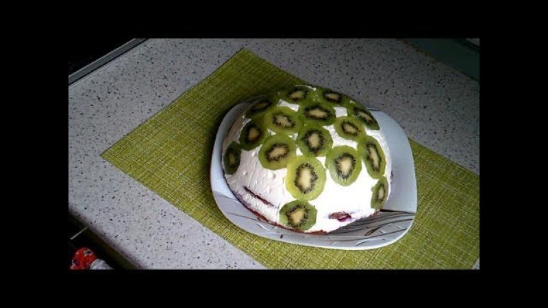 Торт Тропиканка в снегу