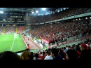 Спартак. Заряд. Red! Red! Red-White! Red! Стадион. Атмосфера. Трибуна Б. Фан-сектор.