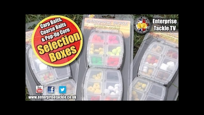 Brilliant new baits for carp, tench, bream, barbel and chub! Enterprise Tackle Selection Boxes
