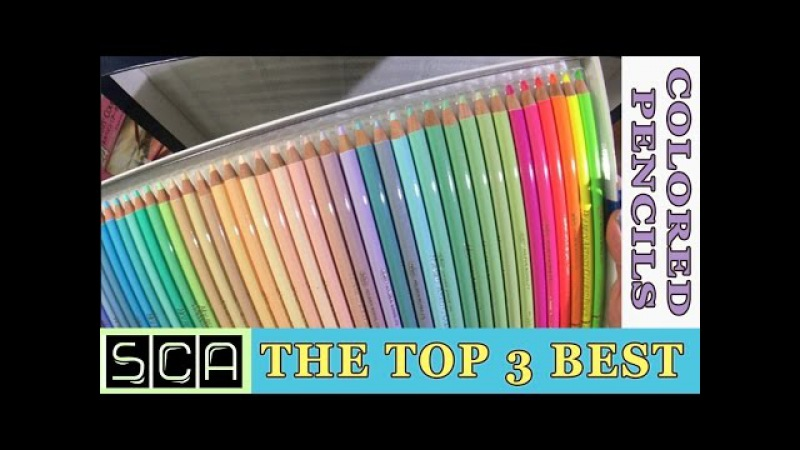 The Top 3 BEST Colored Pencils In The World!! ~ Polychromos - Caran D' Ache - Holbein ~