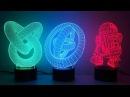 3D illusion novelty LED lamps