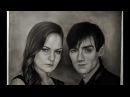 рисунок карандашом Мэрилин Керро и Александр Шепс битва экстрасенсов