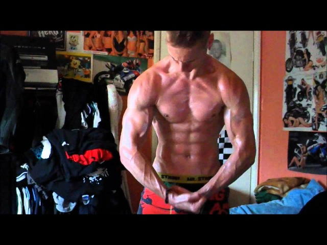 Extreme Vascular Asthetic Ripped Guy Flexing with Oil and Glute Muscle