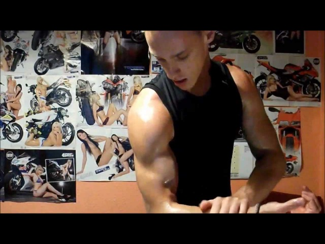 Super Ripped Muscle Guy Flexing More Tanned More Glutes