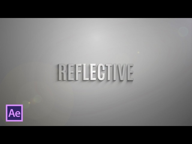 Красивый 3D текст в After Effects (Beautiful 3D Title Text in After Effects)