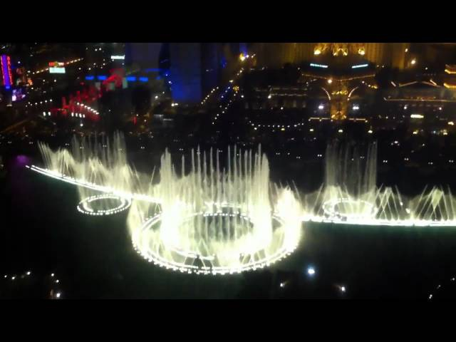 KVATRO Las Vegas 2011 Hotel Casino Bellagio Вид на вечерние