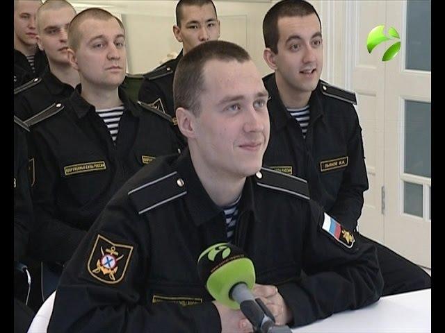 Ямальские матросы-срочники по видеосвязи поздравили мам с 8 марта
