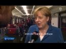Merkels merkwürdiger Augenaufschlag im Gotthard-Tunnel 2016