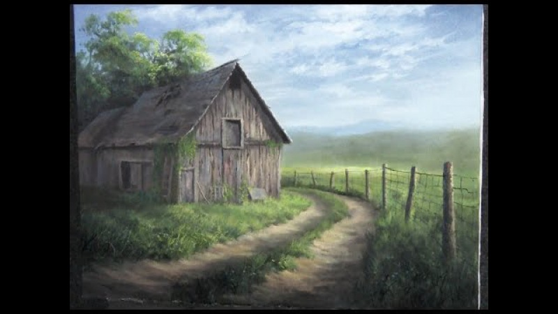 Barn by the Road | Paint with Kevin Hill | landscape in Oils