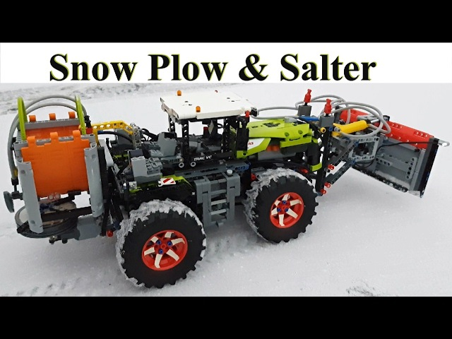 Snow Plow Salter Lego Technic 42054 Claas Xerion 5000 Trac VC