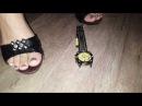 Crush mule watch in hand hard trample crush heels