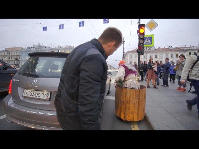 Пранк Бабка на гироступе 3 ДТП в Питере