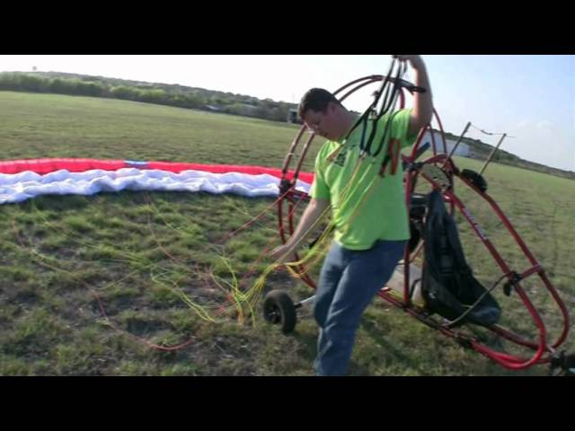 Flying a Powered paraglider trike or quad part 1
