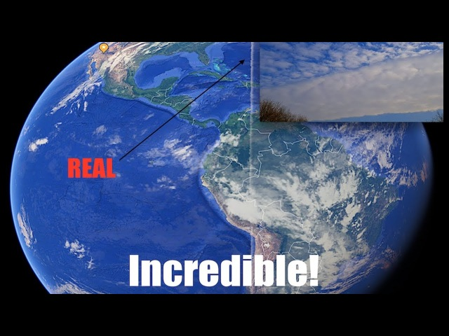 Incredible - Video surfaces of gigantic bizarre straight line soaring through the sky!