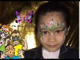 FACE PAINT. for kids. краска. для лица рисуем цветочек YouTube Channel Junior beka #9 flower