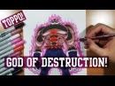 Drawing Toppo! God Of Destruction FORM! - Dragon Ball Super!