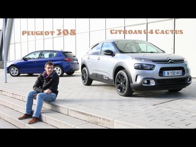 Nouveau Citroën C4 Cactus vs Peugeot 308 - premier match statique
