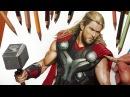 Speed Drawing Chris Hemsworth as Thor Jasmina Susak